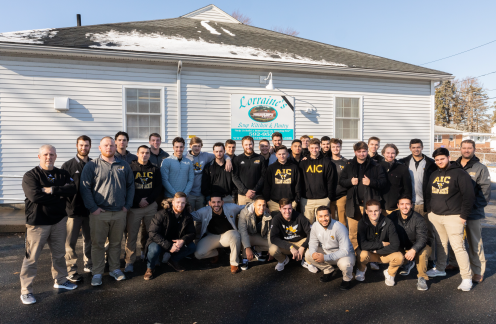 AIC men's baseball hits it out of the park with annual canned food drive