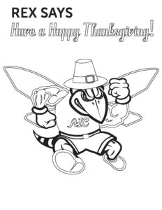 Thanksgiving Rex coloring page